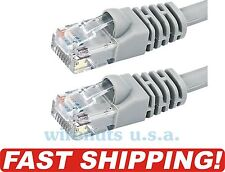 CAT5E GRAY ETHERNET NETWORK CABLE 1FT 3FT 5FT 7FT 10FT 15FT 25FT 50FT 100FT CAT5