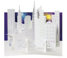 MOMA Pop-Up Card Sabuda Holiday Greeting Cards Cityscape, Wreath, Tree Set of 8