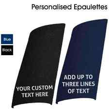 Customised Epaulettes | Add your Custom Text to Black, Blue and Green Epaulettes