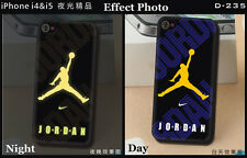 Michael Jordan yellow Basketball fans luminous Cover Case for iPhone 4 4S 5 5S
