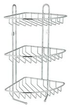 3 Niveles Acero Inoxidable ducha de Esquina Rack caddy/shelf/bathroom Organizador Unidad