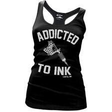 Women's Cartel Ink Addicted To Ink Racer Back Tank Tattoo