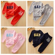 New  Boys Girls Longsleeve Tracksuit Gap Printed 2PCS Outfit Sets size 1.2.3.4.5