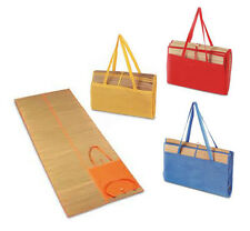 STRAW LARGE BEACH MAT BAG FOLDS UP EASY TO CARRY HANDLE HOLIDAY SUMMER POOL