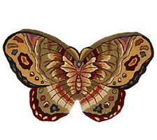 Royal Palace Butterfly Beauty 3' X 5' Handmade Wool Rug SEVERAL COLORS