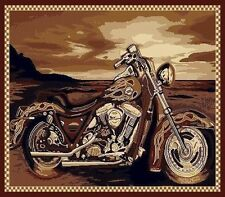 Harley Davidson Motorcycle Area Rug,Carpet, Motorcycle ***FREE SHIPPING***