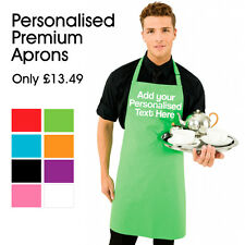 Personalised Premium Adult Apron | Add your Custom Text | Unisex, Chefs, Cooks