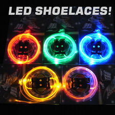 Cool LED Flash Light Glow Shoelaces Lace DISCO PARTY FOR Men Women new
