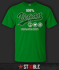 Peace Love Vegan T-Shirt - New - Direct from Manufacturer