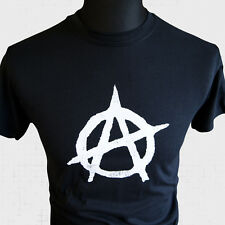 Anarchy symbol T Shirt Punk Rock Sex Pistols UK Subs The Clash Retro 80's