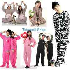 New Adult Unisex Footed Pajamas Sleepsuit Sleepwear Pyjamas Jumpsuit Costume