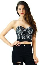 gem sparkle high quality strapless bustier corset cropped top 10640