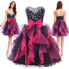 Short Mini Organza Sequins Cocktail Clubwear Evening Party Ball Prom Gown Dress
