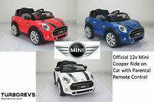 NEW BATTERY ELECTRIC KIDS MINI RIDE ON TOY CAR + PARENTAL REMOTE 6V & 12V
