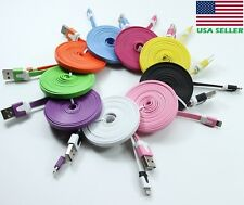 8 Pin USB Cable Flat Noodle Charger Sync Data Cord for iPhone 6 6Plus iPhone 5