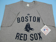 BOSTON RED SOX LOGO SS T-SHIRT GREY OFFICIALLY LICENSED QUALITY *BRAND NEW* MLB