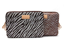 "13""14""15"" Zebra Print Laptop Sleeve Pouch Cover Notebook Case Bag For Lenovo HP"