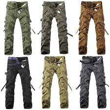 Hot New Fashion Casual Mens Military Army Cargo Camo Combat Work Trousers Pants