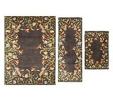 Royal Palace Floral Fields 3-pc. Area Size Handmade Wool Rug Set  H196743