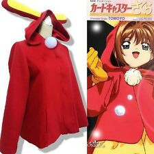 NEW!Cardcaptor Sakura Sakura Cosplay Costume Cloak Rabbit Coat  MH