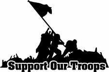 """Support Our Troops - 5.7"""" x 3.75"""" - Choose Color - Vinyl Decal Sticker #2246"""