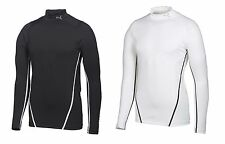 PUMA Golf Mens LS Monoline Mock Turtleneck pick size & color Black or White NWT