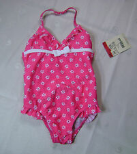 OshKosh Toddler Girls 1-PC Floral Swimsuit Swim Wear ~ UPF +50 UV Protection NWT