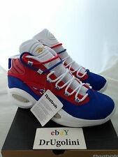 "Reebok Question Mid sz 8-15 red blue white gold ""Banner"" Allen Iverson DEADSTOCK"