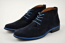 Men's Navy/Blue Casual Ankle Chukka Boots Shoes Lace Up Sizes Medium(D,M)13JJ004