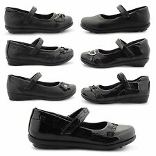 NEW GIRLS BACK TO SCHOOL FORMAL SHOES CASUAL COMFORT BALLET PUMPS UK SIZE 8-2