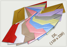 DL 110x220mm Pearl Tint Colour Envelopes, Weddings, Crafts, Printing LST