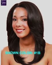 MIDWAY BOBBI BOSS MLF-16 Ivory Straight Medium Length Synthetic Lace Front Wig