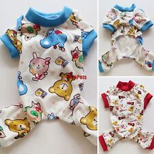 Red /Blue Cotton Bear Dog Pajamas Jumpsuit Dog Clothes Pet Apparel XS S M L XL