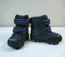 Joe Fresh Toddler Boys Blue~Gray Faux Suede Leather Snow BOOTS 4 & 5 NWT