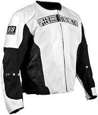 Speed & Strength Trial by Fire Mesh Motorcycle Street Bike Jacket White CE Armor