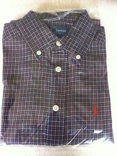 Ralph Lauren Boys Designer Check Twill Shirts Brand New 100% Genuine