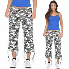 New Army Military Green Camouflage Long Shorts 3/4 Length Stretch Pants Trousers