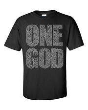 ONE GOD Scripture Bible Verse Print Christian CHRIST FAITH Men's Tee Shirt 849