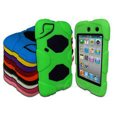 Tough Protective Heavy Duty Case for Apple iPod Touch 4 4th Gen 4G Cover