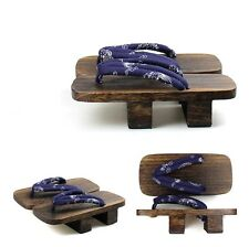New Japanese geta clogs men bidentate Flops 4 color Sandals