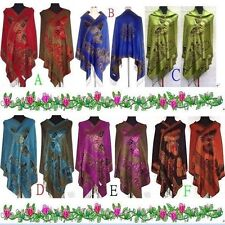 Hot Sale sexy Lady's Double Side Pashmina Butterfly Wrap Shawl/Scarf Free Ship