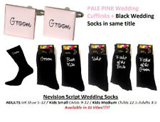 Nevision PALE PINK Cufflinks + Socks Set. GROOM, BEST MAN, USHER  - WEDDING SET