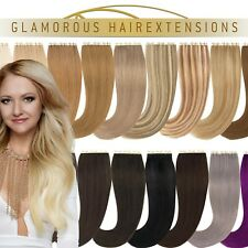 100% Human Hair Remy Echthaar Tape In/On Extensions Skin Weft Haarverlängerung