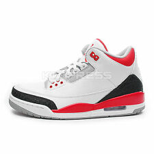Nike Air Jordan 3 Retro [136064-120] Basketball White/Fire Red-Silver-Black