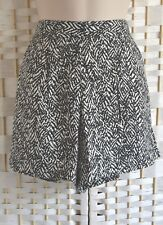 Ladies Black And Cream Patterned Shorts Manufactured For Evie