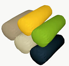 la High Quality Pure Cotton Canvas Fabric Bolster Yoga Neck Roll Cushion Cover