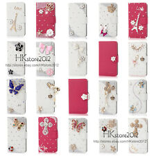 2014 New Bling Diamond Wallet PU Leather Case Cover For Samsung Galaxy Gio S5660