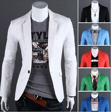 Fashion Mens Slim Fit Stylish Casual One Button Suit Coat Jacket Blazers Top