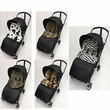 BUGABOO BEE PLUS UNIVERSAL FIT ANIMAL PRINT FOOTMUFF/COSY TOES. PUSHCHAIR/BUGGY
