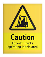 """CAUTION Forklift Operating Area 8x10"""" Metal Sign Security Premises Workplace #53"""